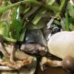 やせる晩酌 サンマの野菜蒸し焼き、371キロカロリー