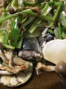 サンマの野菜蒸し焼き