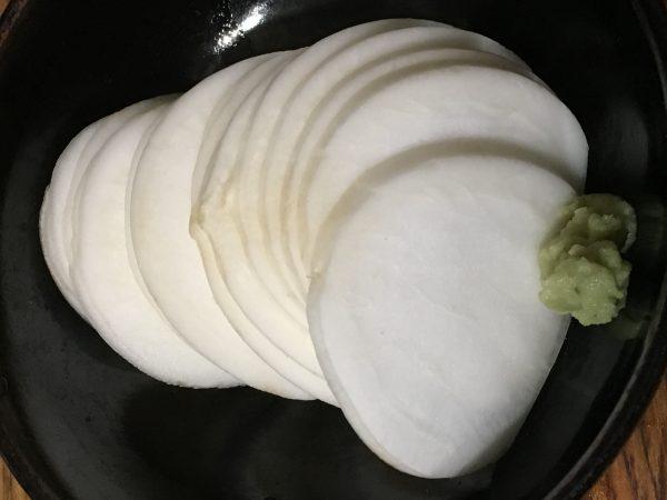 カブのお刺身15キロカロリー