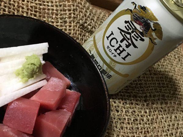 メバチマグロのぶつ+長芋短冊に零ICHI